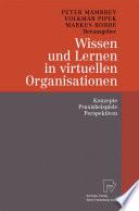 Wissen und Lernen in virtuellen Organisationen