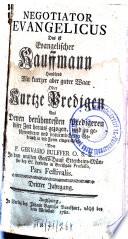 Negotiator evangelicus, Das ist: Evangelischer Kauffmann
