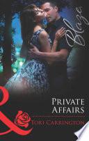 Private Affairs  Mills   Boon Blaze