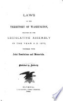 Session Laws of the Territory of Washington
