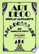 Art Deco Display Alphabets