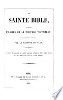 La Sainte Bible, etc