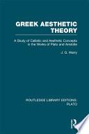 Greek Aesthetic Theory  RLE  Plato
