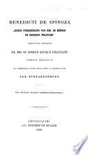 Korte Verhandeling Van God De Mensch En Deszelfs Welstand