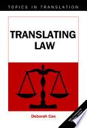 Translating Law