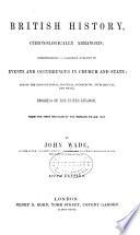 British History  Chronologically Arranged