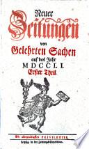 Neue Zeitungen von gelehrten Sachen      hrsg  von Johann Gottlieb Krause