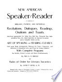 New American Speaker and Reader