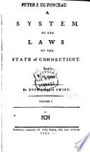 Book A System of the Laws of the State of Connecticut