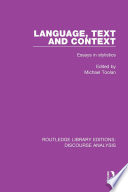 Language  Text and Context