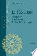 illustration du livre Le thomisme