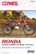 Honda XL XR75  XL XR80   XL XR100 1975 1991