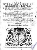 Read Vida que el Siervo de Dios, Gregorio Lopez hizo en algunos lugares de la Nueva España