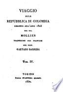 Viaggio alla Repubblica di Colombia eseguito nell anno 1823 dal sig  Mollien  Traduzione dal francese del prof  Gaetano Barbieri  Tom  1    4