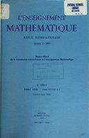 L Enseignement math  matique