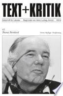 TEXT+KRITIK 43 - Thomas Bernhard