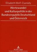 Wertewandel und Kulturpolitik in der Bundesrepublik Deutschland und   sterreich