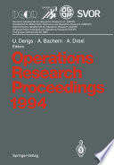 Operations Research Proceedings 1994