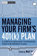 Managing Your Firm s 401 k  Plan
