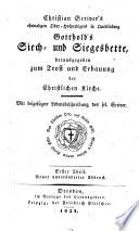 Christian Scriver's Gotthold's Siech- und Siegesbette