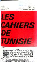 Les Cahiers De Tunisie : ...