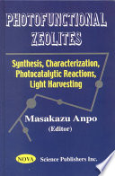 Photofunctional Zeolites book