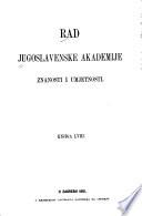 Rad Jugoslavenske akademije znanosti i umjetnosti