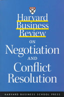 Harvard Business Review on Negotiation and Conflict Resolution