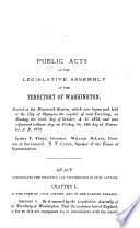Laws     Enacted by the Legislative Assembly