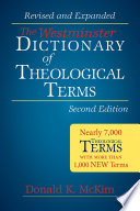 The Westminster dictionary of theological terms / Donald K. McKim.