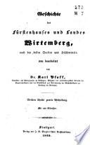 Geschichte des Fürstenhauses und Landes Wirtemberg