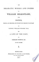 The Dramatic Works and Poems of William Shakspeare
