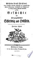 Geschichte der herzogth  mer Schleswig und Hollstein