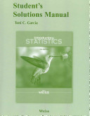 Introductory Statistics Student s Solutions Manual