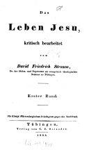 Das Leben Jesu, kritisch bearbeitet. 1 (1835)
