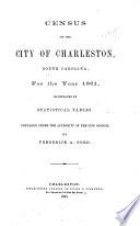 Census of the City of Charleston, South Carolina