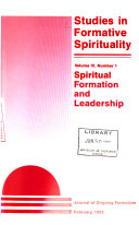 Studies in Formative Spirituality