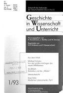 Geschichte In Wissenschaft Und Unterricht