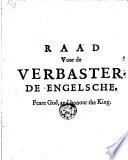 Raedt Voor De Verbasterde Engelsche Feare God And Honour The King