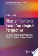 Disaster Resilience from a Sociological Perspective