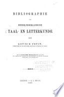 Bibliographie der Middelnederlansche taal- en letterkunde