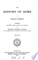 The history of Rome  tr  by W P  Dickson   With  Index