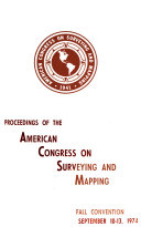 Proceedings of the American Congress on Surveying and Mapping  fall convention