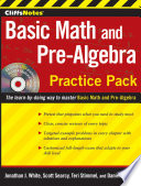 CliffsNotes Basic Math and Pre Algebra Practice Pack