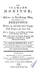 The Seaman S Monitor Wherein Particular Advice Is Given To Sea Faring Men With Reference To Their Behaviour Another