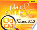 Microsoft Access 2010 Plain Simple