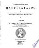 Systematisch-alphabetischer Hauptkatalog der Königlichen Universitätsbibliothek zu Tübingen