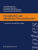 Europ  isches und   ffentliches Wirtschaftsrecht I