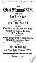 Der Geist Klemens XIV.