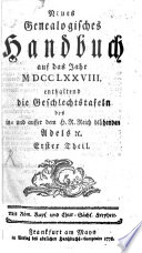 Neues genealogisches Handbuch